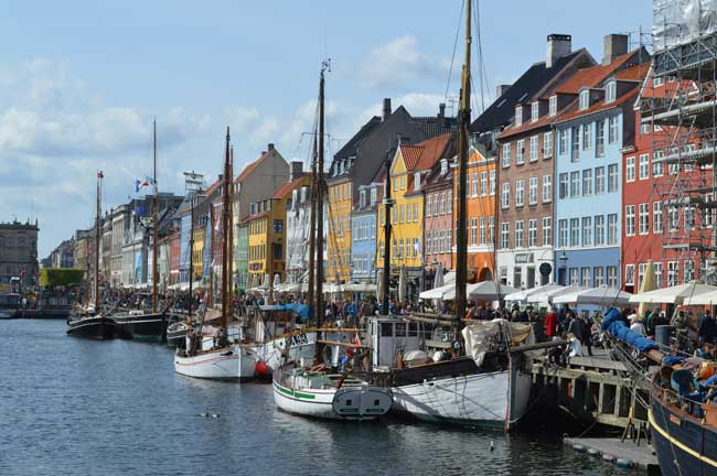 Nyhavn is a 17th-century waterfront, canal and entertainment district in Copenhagen, Denmark.