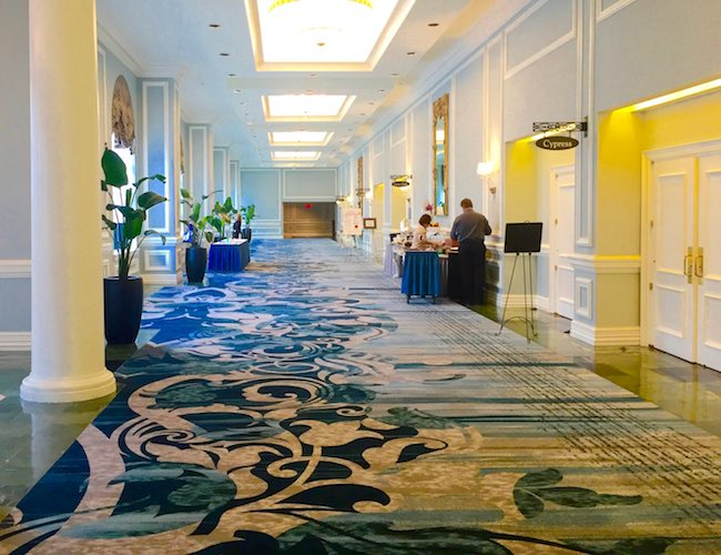 Conference Center hallway at Belmond Charleston Place. Photo by Claudia Carbone