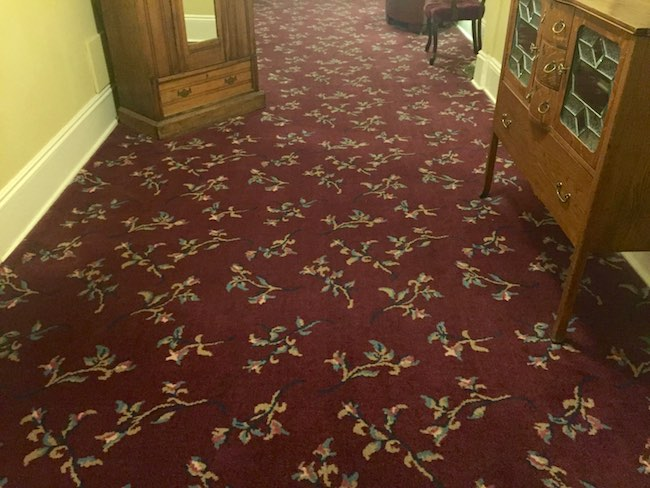 Boulderado Hotel carpeting in the vintage wing. Photo by Claudia Carbone