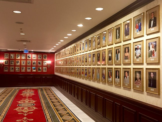 Photo history hallway at The Broadmoor in Colorado Springs, CO. Photo by Claudia Carbone