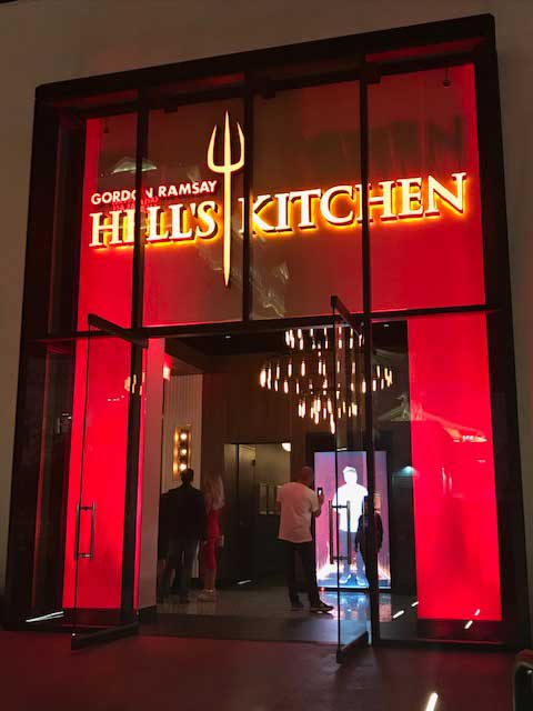Watch the bowl game in Las Vegas at Hell's Kitchen. Photo by Michael Patrick Shiels