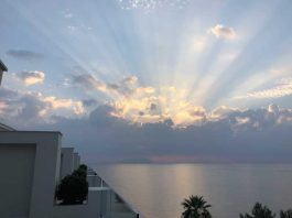 Sunrise on the first morning of our belated honeymoon in Corfu