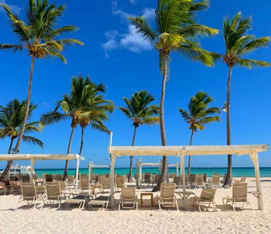 Private beach at Scape Park at Cap Cana in the Dominican Republic. Photo by Janna Graber