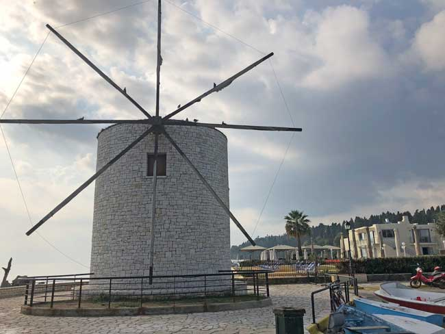A windmill in Corfu. Photo by Amber Turpin