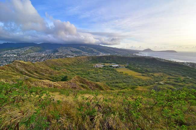 Hiking Diamond Head Trail on Oahu