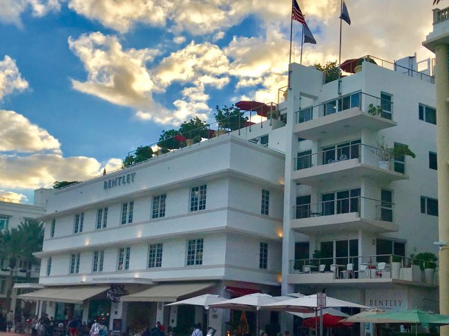 The Bentley hotel, featured on Ocean Drive.