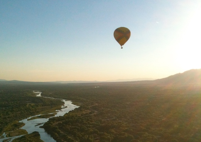 Floating above the Rio Grande. Photo by Claudia Carbone