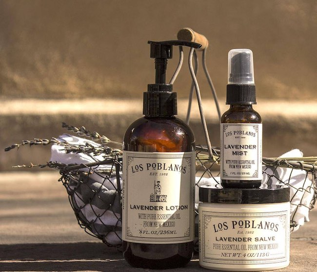 Lavender products from Los Poblanos. Photo courtesy of Los Poblanos