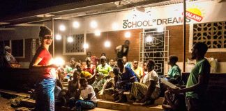"15 families from the local village have been invited for a special evening at The School of Dreams. Each of them will receive one of these new ""Crush Lights"" which combine all Solar Panel, Battery and Light into one tight and collapsable package. We are very excited."