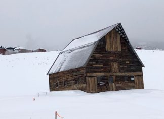 The Barn -Steamboat's iconic structure symbolizing the Old West and Skiing. Photo by Claudia Carbone
