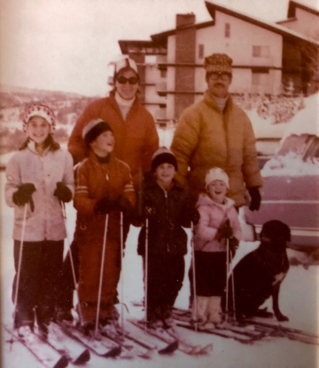 Our family in front of Storm Meadows in 1972: (L-R) Susan, 10; David, 8; Michael, 6; Kathleen, 4 and Eric. Photo provided by Claudia Carbone