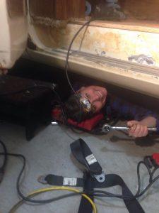 Female DIY, independent woman, camper van renovations, self-mechanic