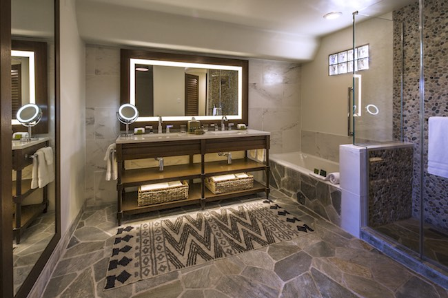 Updated casita bathroom. Photo courtesy of Boulders Resort & Spa.