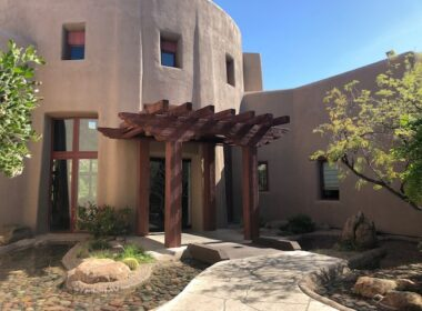 Modest entrance to The Boulders Resort & Spa. Photo by Claudia Carbone