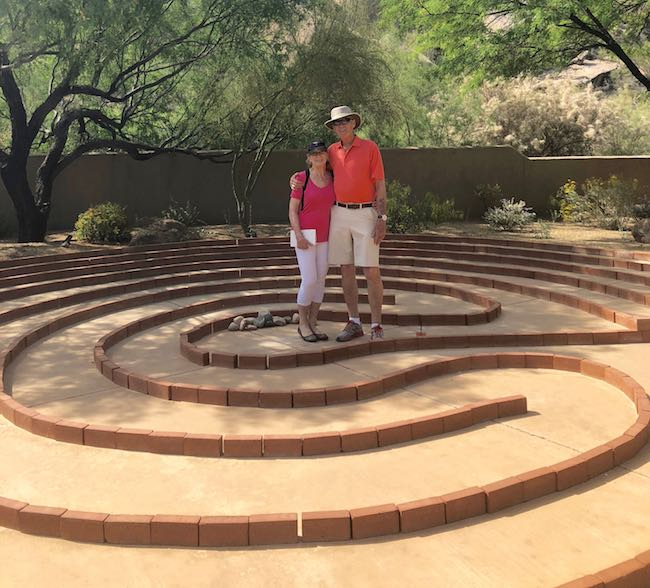 The Labyrinth at the spa. Photo courtesy of Claudia Carbone