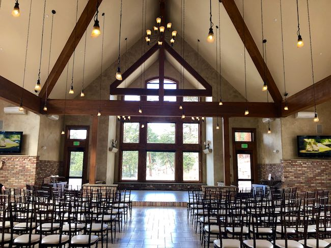 Indoor wedding hall. Photo by Claudia Carbone