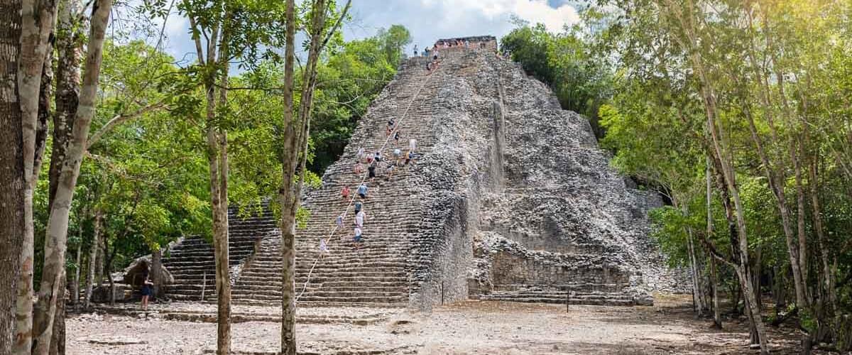 The Cobá pyramid in Mexico