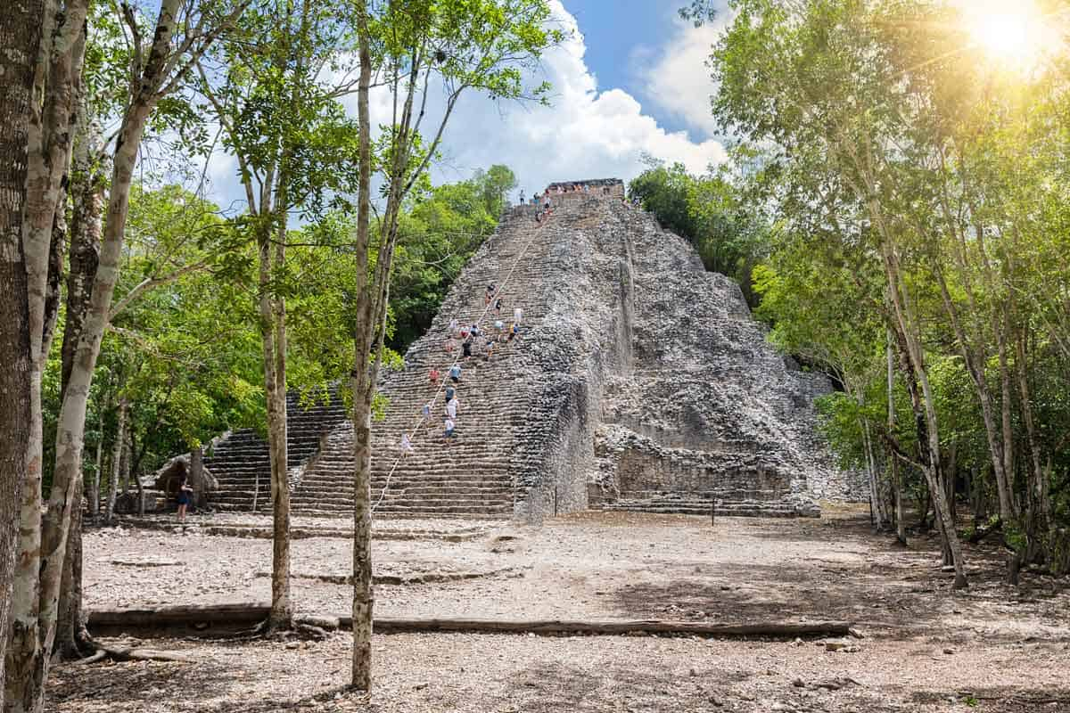 Exploring the Ancient Mayan City of Cobá in Quintana Roo, Mexico
