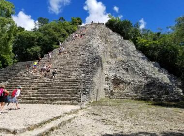 Nohoch Mul in Coba. It means 'large mound' in Mayan. Photo by Carrie Dow