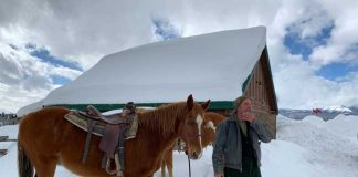 Horseback riding guide, Jim, at Hahn's Peak Roadhouse. Photo by Janna Graber