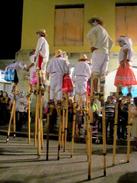 At Day of the Day celebrations, the incredible skill of parade stilt-walkers mesmerized the crowd.