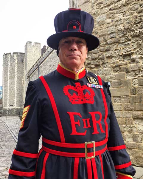 Guard at the Tower of London. Photo by Rich Grant