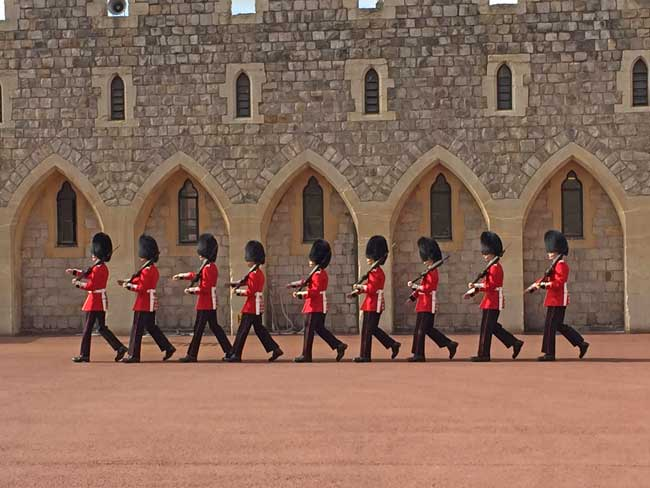 Changing of the guards at Windsor Castle. Photo by Rich Grant