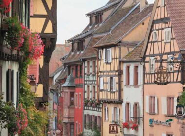 Some Adventures by Disney river cruise itineraries visit the places and culture that inspired the Beauty and the Beast films including Riquewihr, an idyllic French village. Photo by Yoshihiro Takada