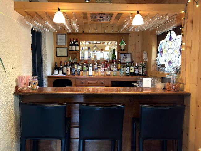 Bar at Elk Mountain Lodge. Photo by Claudia Carbone