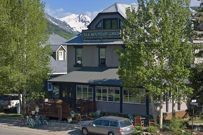 Elk Mountain Lodge B & B in the heart of Crested Butte, Colorado. Photo courtesy of Elk Mountain Lodge