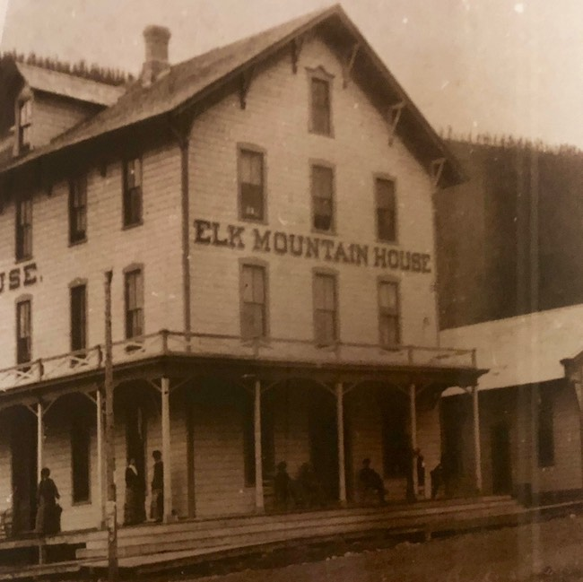 Vintage photo of Elk Mountain House. Photo of a photo by Claudia Carbone