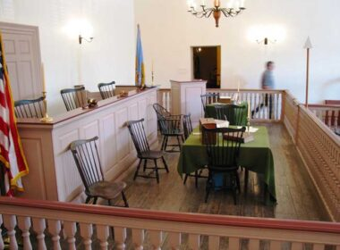 Olde New Castle's courthouse oversaw underground railroad court cases. Photo by Victor Block