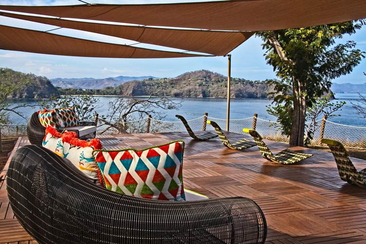 The ocean and distant coves seen from one of Villa Manzu's two cliff-edge decks. ©Steve Haggerty
