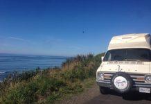 Oregon coast, Lincoln City, road trip, campervan