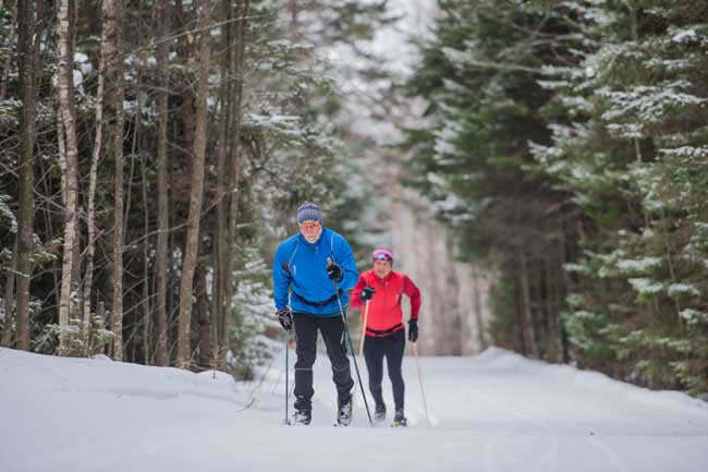 Cross-country skiing in Quebec. Photo by Jimmy Vigneux