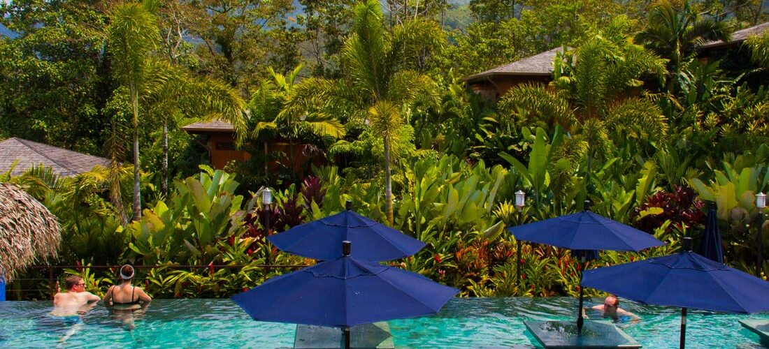 Nayara Springs Resort, near Arenal Volcano National Park, is centrally located for hiking, zip-lining, spelunking and mud bath treatments. Nayara Springs Resort, Costa Rica