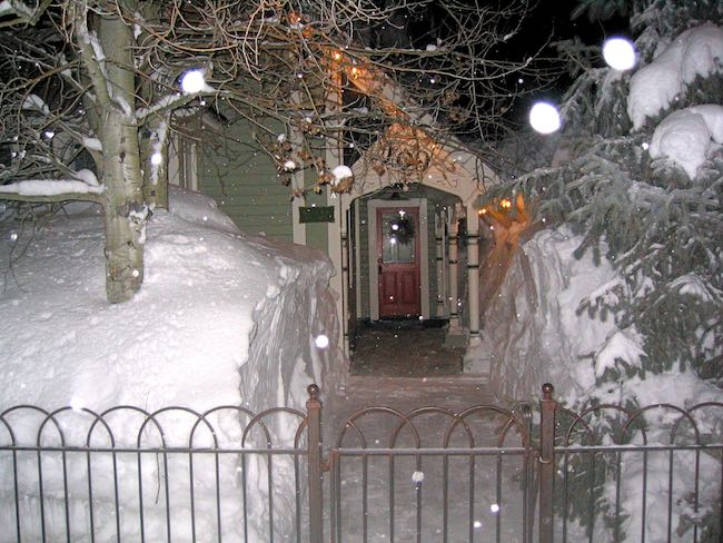 A house on Elk Ave. in a big snow year, 2008. Photo by Claudia Carbone