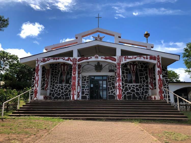 Iglesia Hanga Roa has a Rapa Nui flare. Photo by Kim Foley MacKinnon