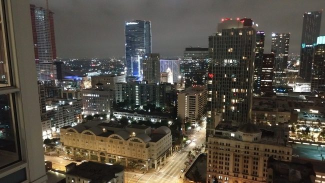 DTLA at night