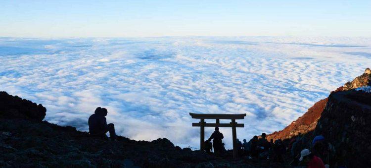 Climbing Mt Fuji. Photo by Chikako Hayashi