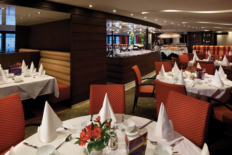 Main dining room on the AmaPrima. Photo by AmaWaterways