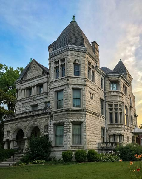 The ornate Conrad Caldwell House is one of the mansions in the Old Louisville where tours of the interior take place. Photo by Go to Louisville