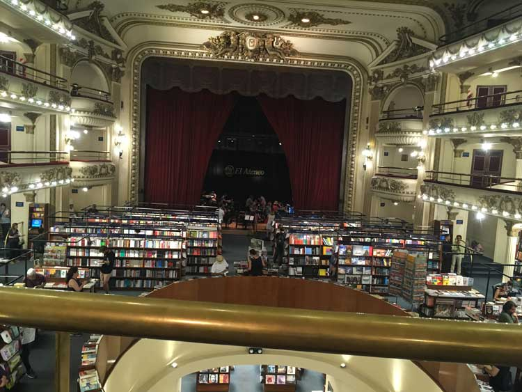El Ateneo in Buenos Aires, Argentina. Photo by Megan Webber