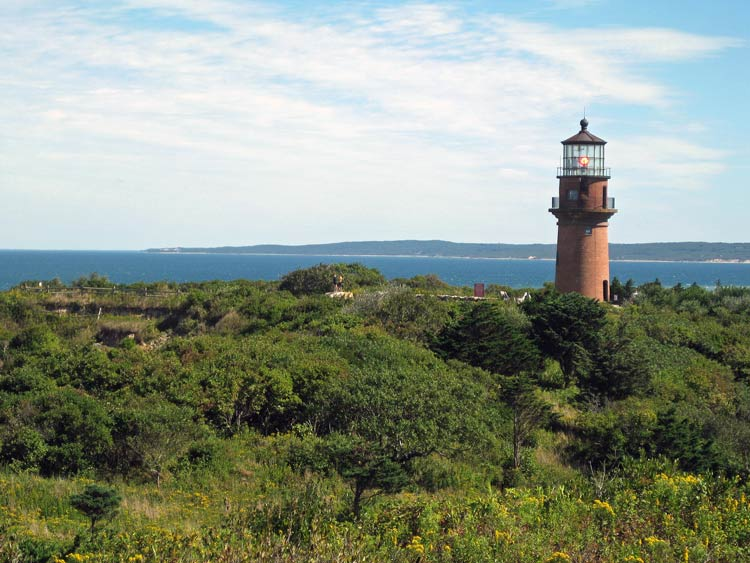 The 1799 Gay Head lighthouse is one of five lighthouses on Martha's Vineyard, Mass. Photo by Pat Woods