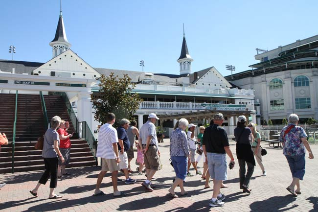 Frequent walking tours of Churchill Downs take place all year, courtesy of the on-site Kentucky Derby Museum.