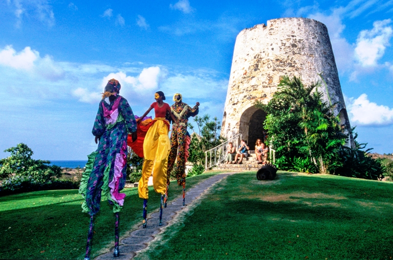 Mocko Jumbies at the Sugar Mill<br /> The Buccaneer Resort<br /> St. Croix, Virgin Islands Photo by Steve Simonsen Photography