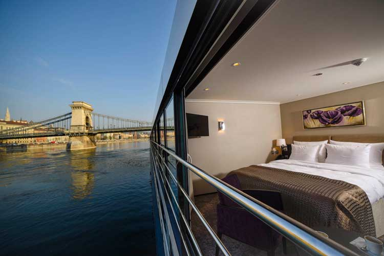 The windows in the Panorama Suites open all the way. Photo by Avalon Waterways