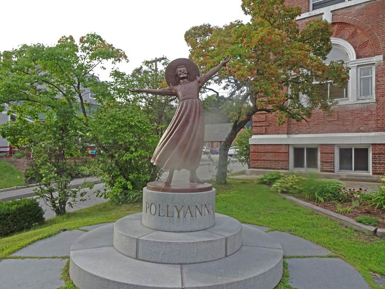 Littleton resident Eleanor H. Porter wrote the book, Pollyanna. Her image is on everything from lamppost banners to pedestrian crosswalks. Photo by Michael Schuman