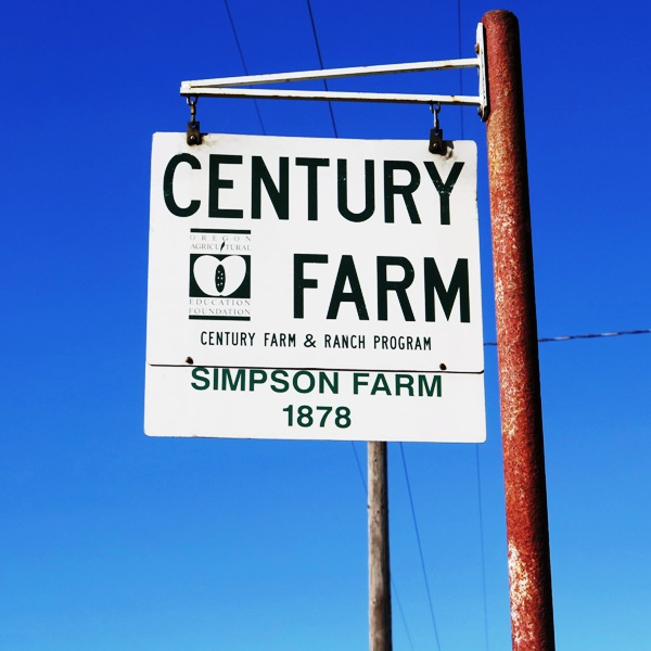 Tualatin Valley Century Farm designating a family-owned farm over 100 years old. Photo by Victor Block