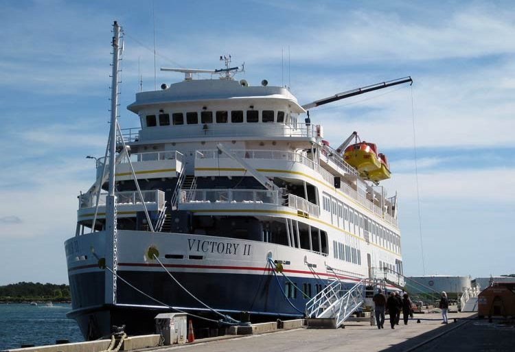 Victory II docked in Portland, Maine. Photo by Pat Woods